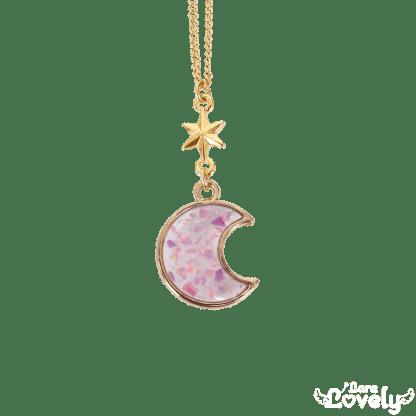 煌めきオパールネックレス 月