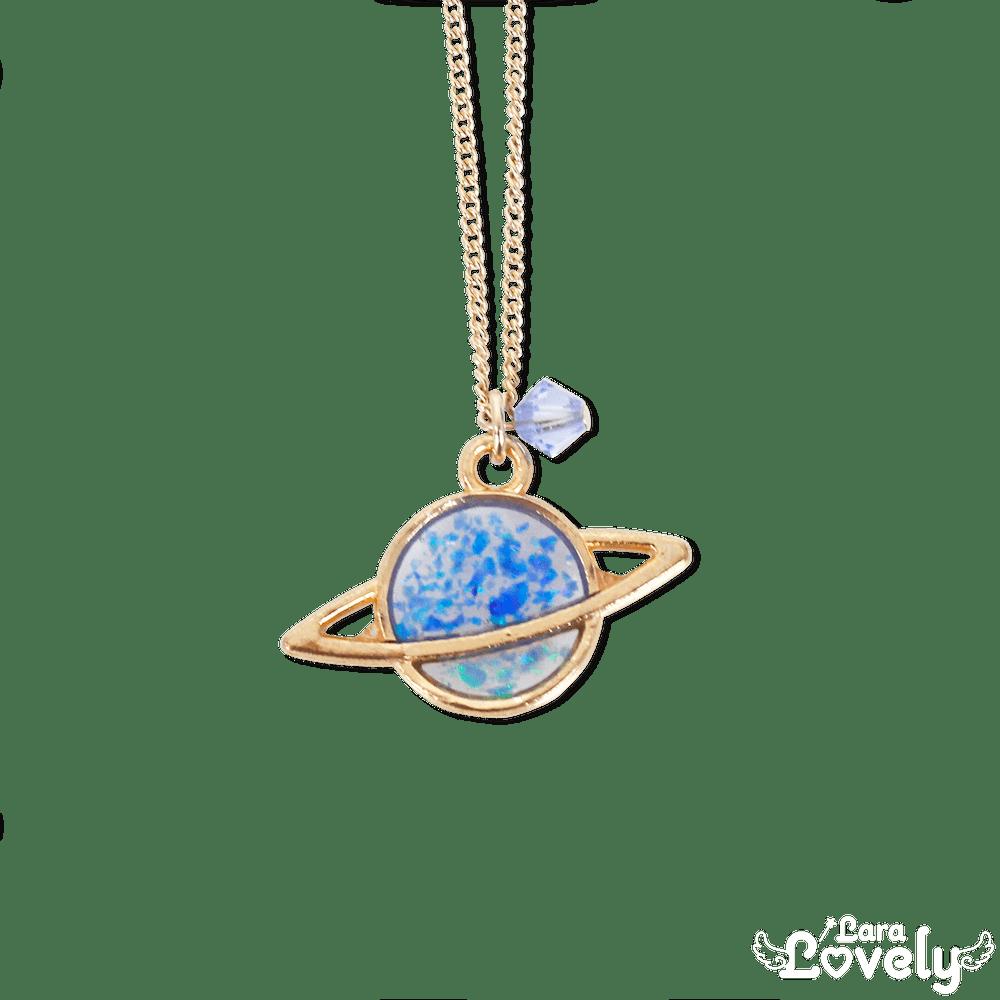 煌めきオパールネックレス 土星