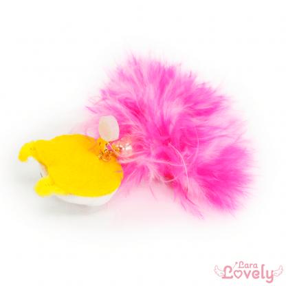 かすおのふわふわイヤリング ピンク