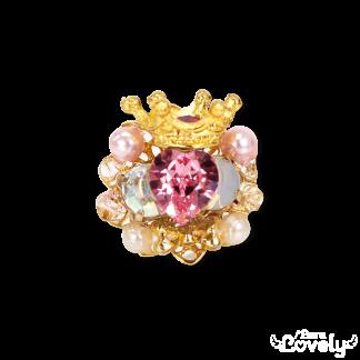 Heart bijou tiara ring(pink)