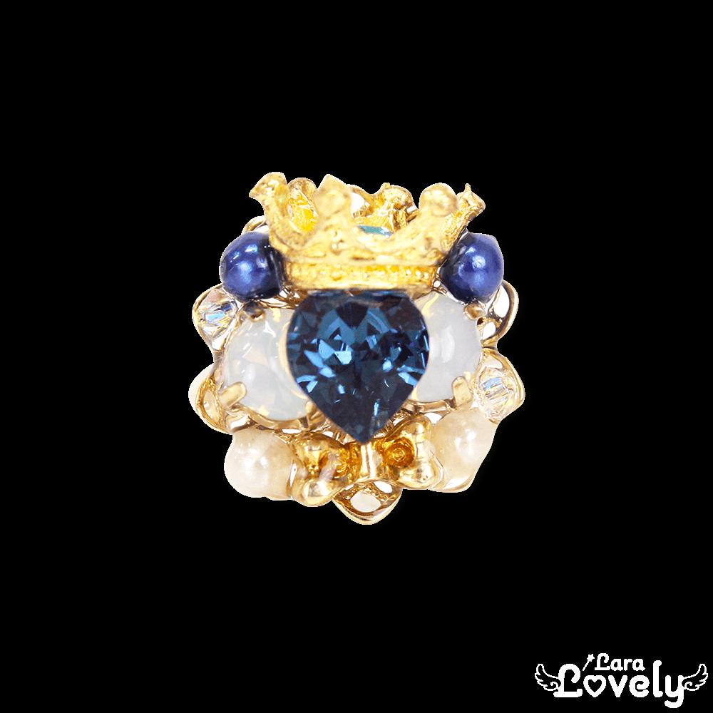 Heart bijou tiara ring(blue)
