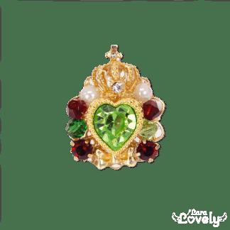 Heart bijou tiara ring(メロンソーダ)