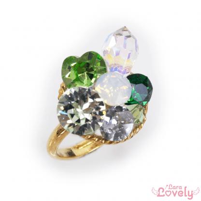 Jewel Princess ring(green)