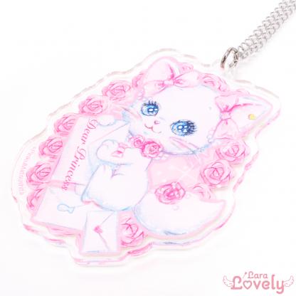 白猫リミィちゃんの乙女の誓い(アクリルペンダント)