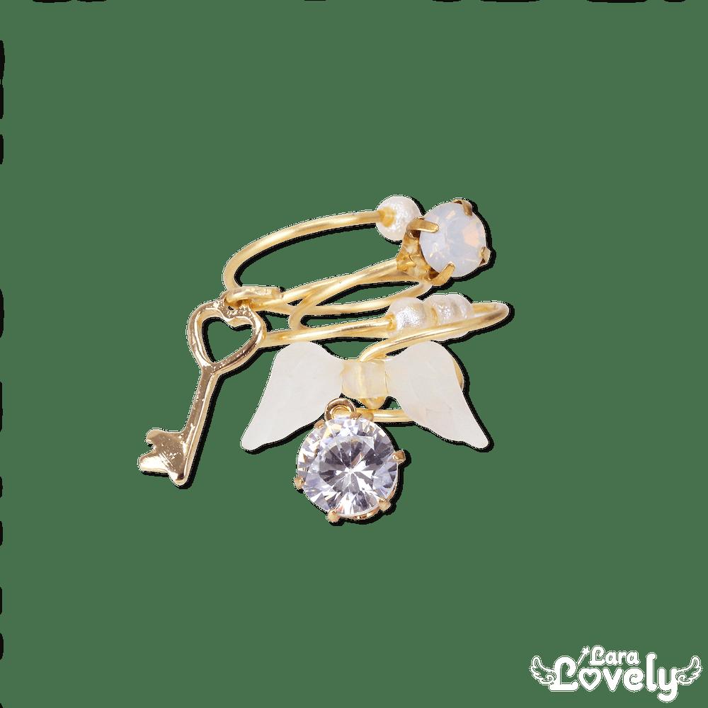 天使と心の鍵3連リング