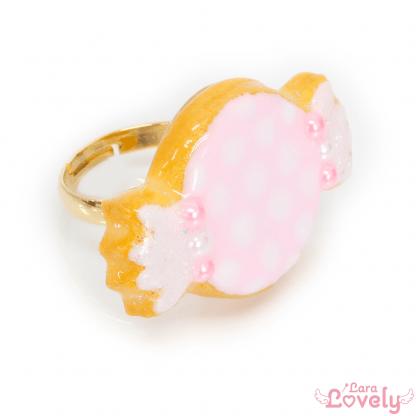 ゆめかわキャンディクッキーのリング(ピンク)