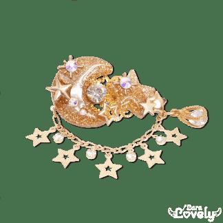 月星ヘアクリップ(ゴールド)