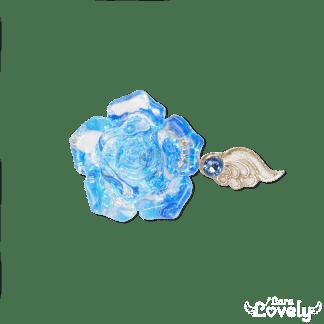 クリスタルローズフォークリング(アクア×ブルー)