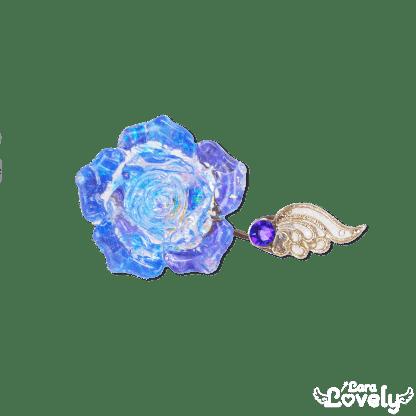 クリスタルローズフォークリング(ブルー×パープル)