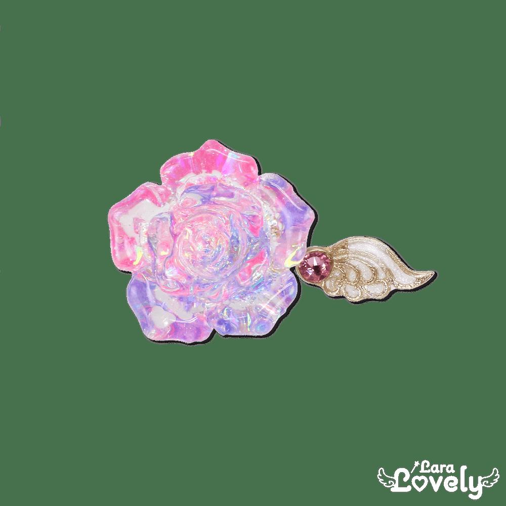 クリスタルローズフォークリング(ピンク×パープル)
