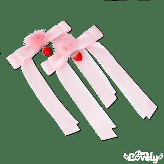 ファーツインテールリボン(ピンク)