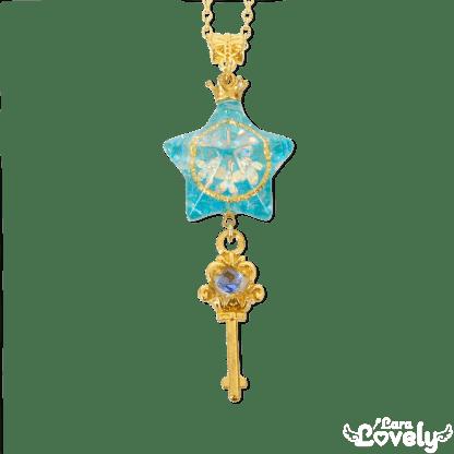 星が守りし心の鍵ネックレス