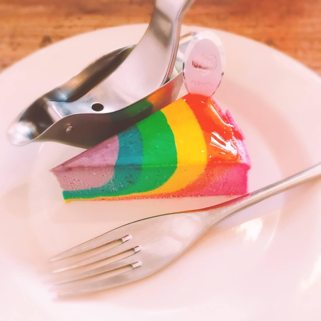 人気レインボーチーズケーキ