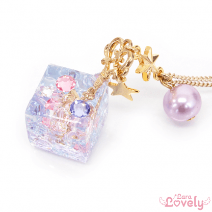 プリンセス☆キューブネックレスピンクパープル