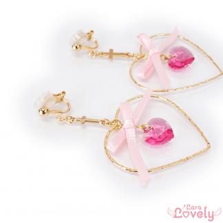 プリンセスピンクのイヤリング