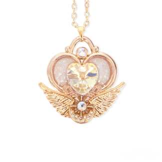 Crystal Heart Amulet ネックレス