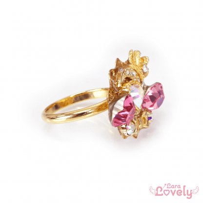 Princess Moon Tiara ring(pink)