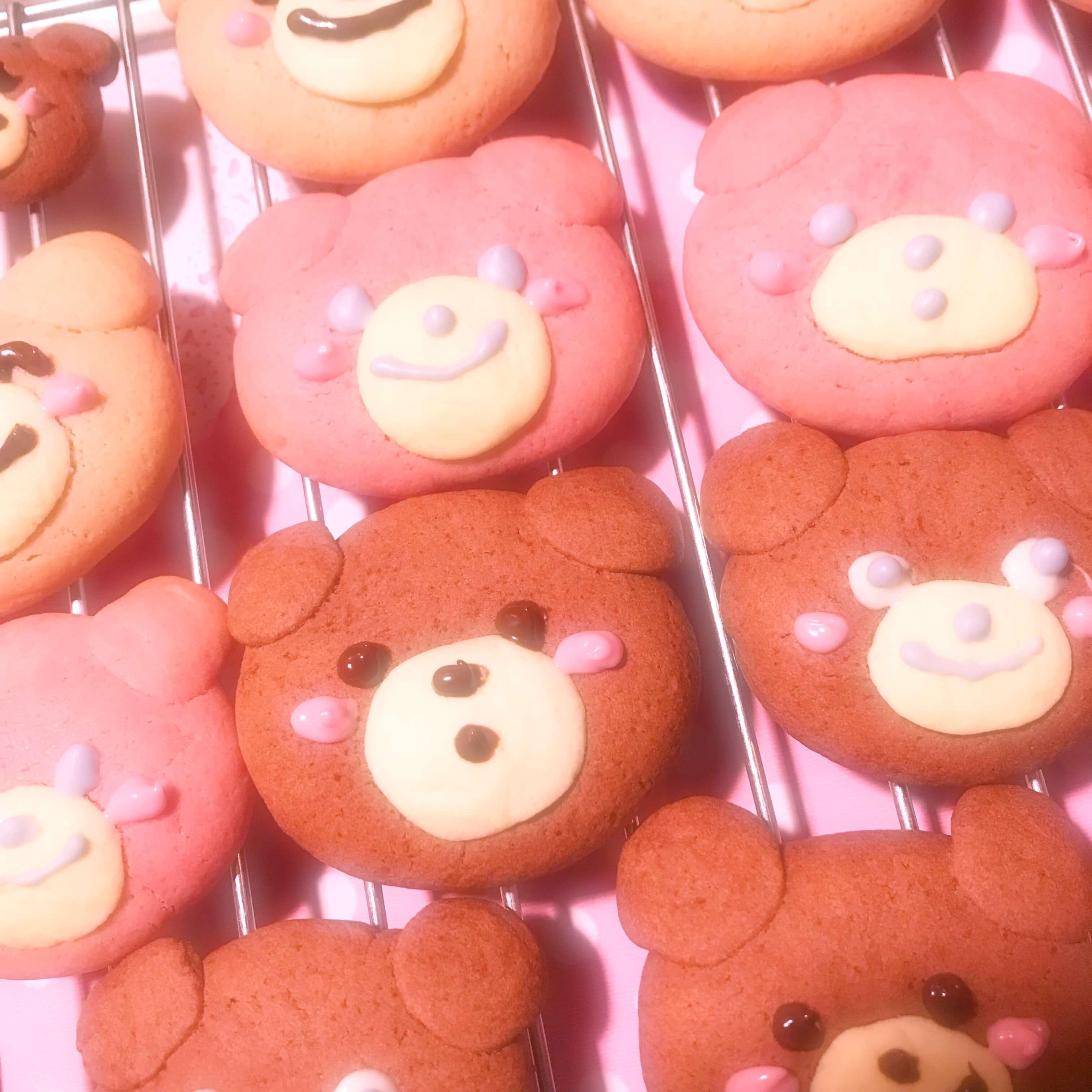 ゆめかわいいクマさんクッキー
