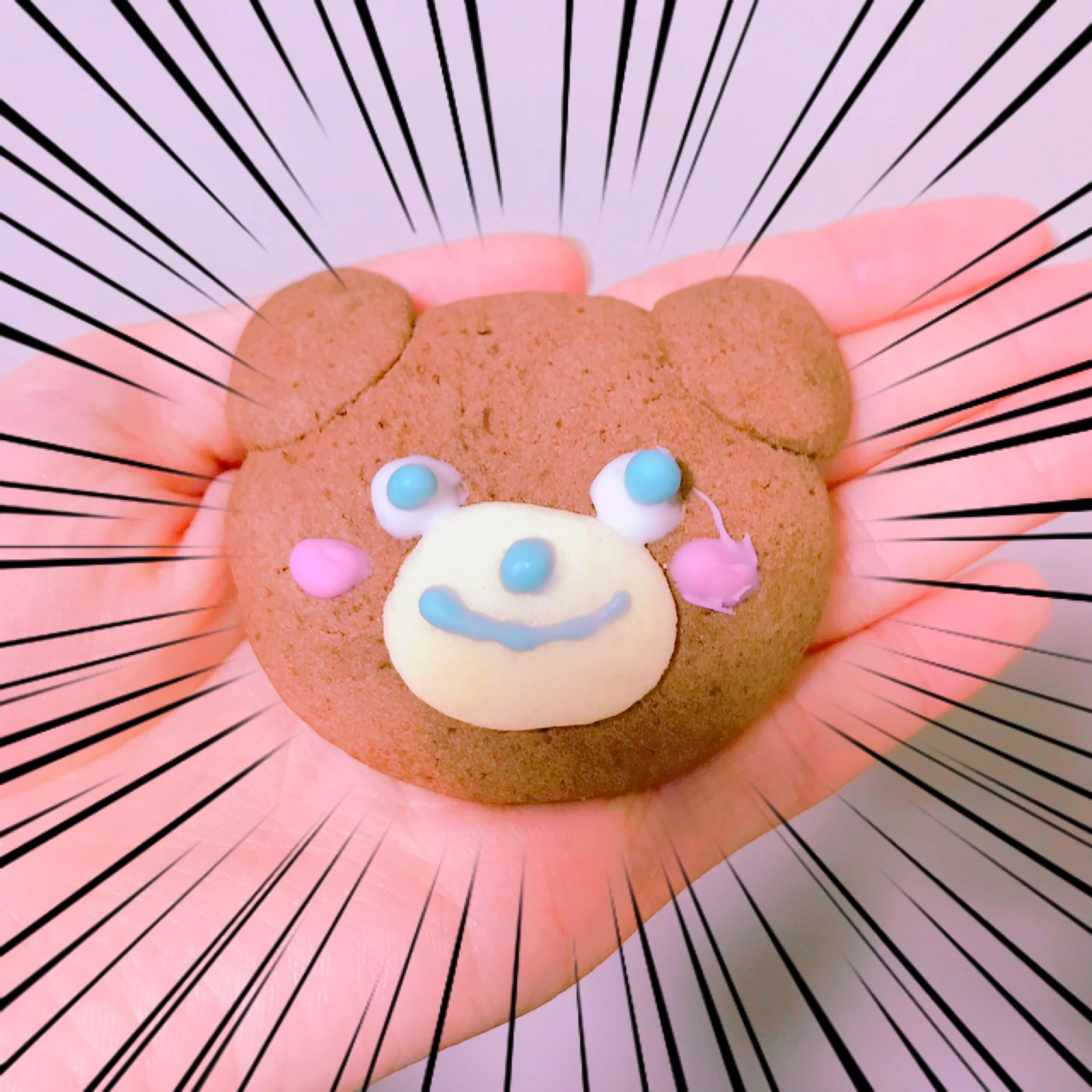 かわいいクマさんクッキー!