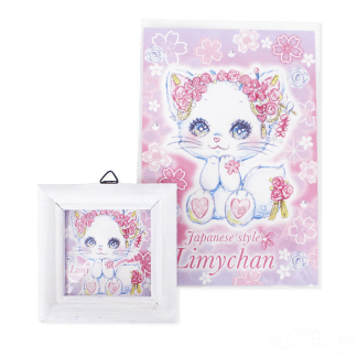 和風白猫リミィちゃん大好きセット(お部屋の小窓、夢の招待状)