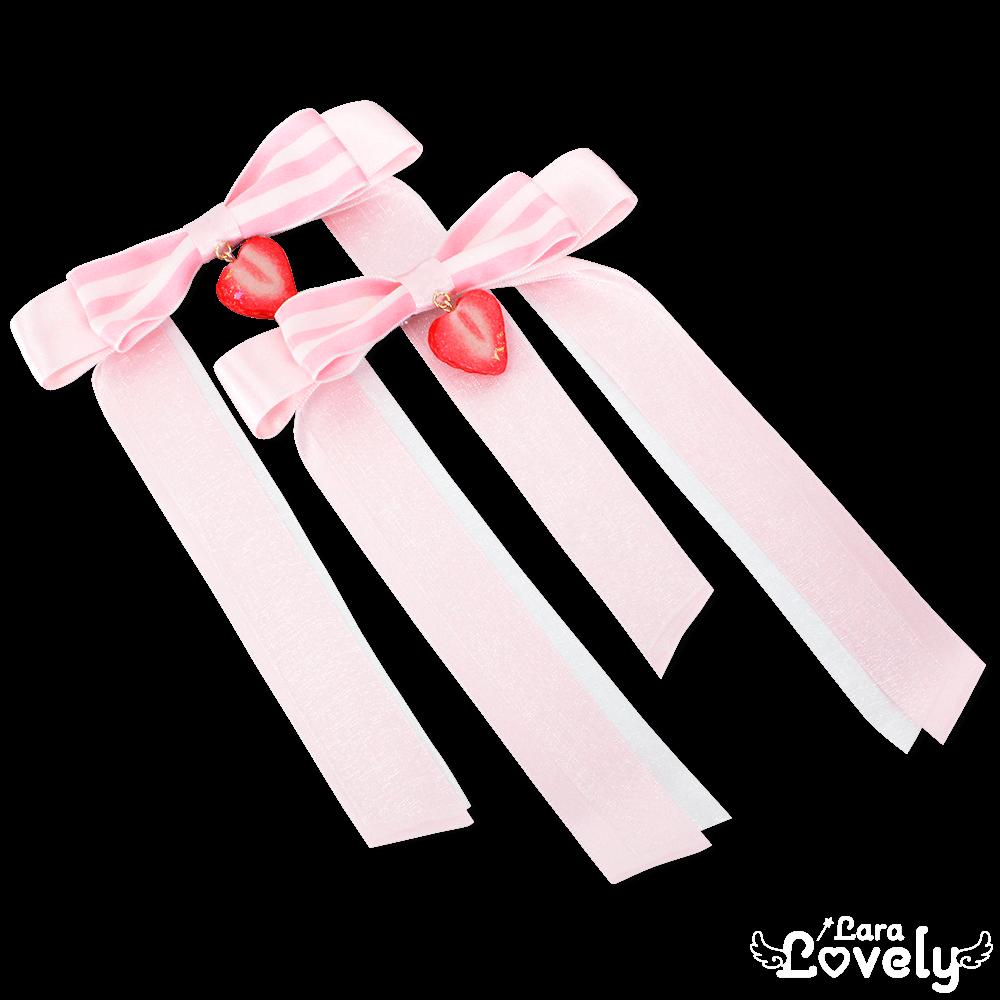 ツインテールリボン(ピンク2)