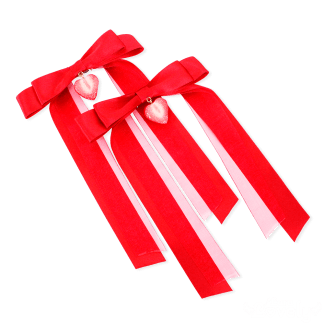 ツインテールリボン(赤)