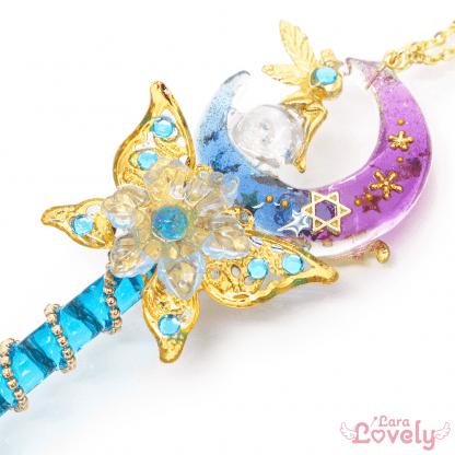 月の妖精の力が宿る魔法の杖ネックレス