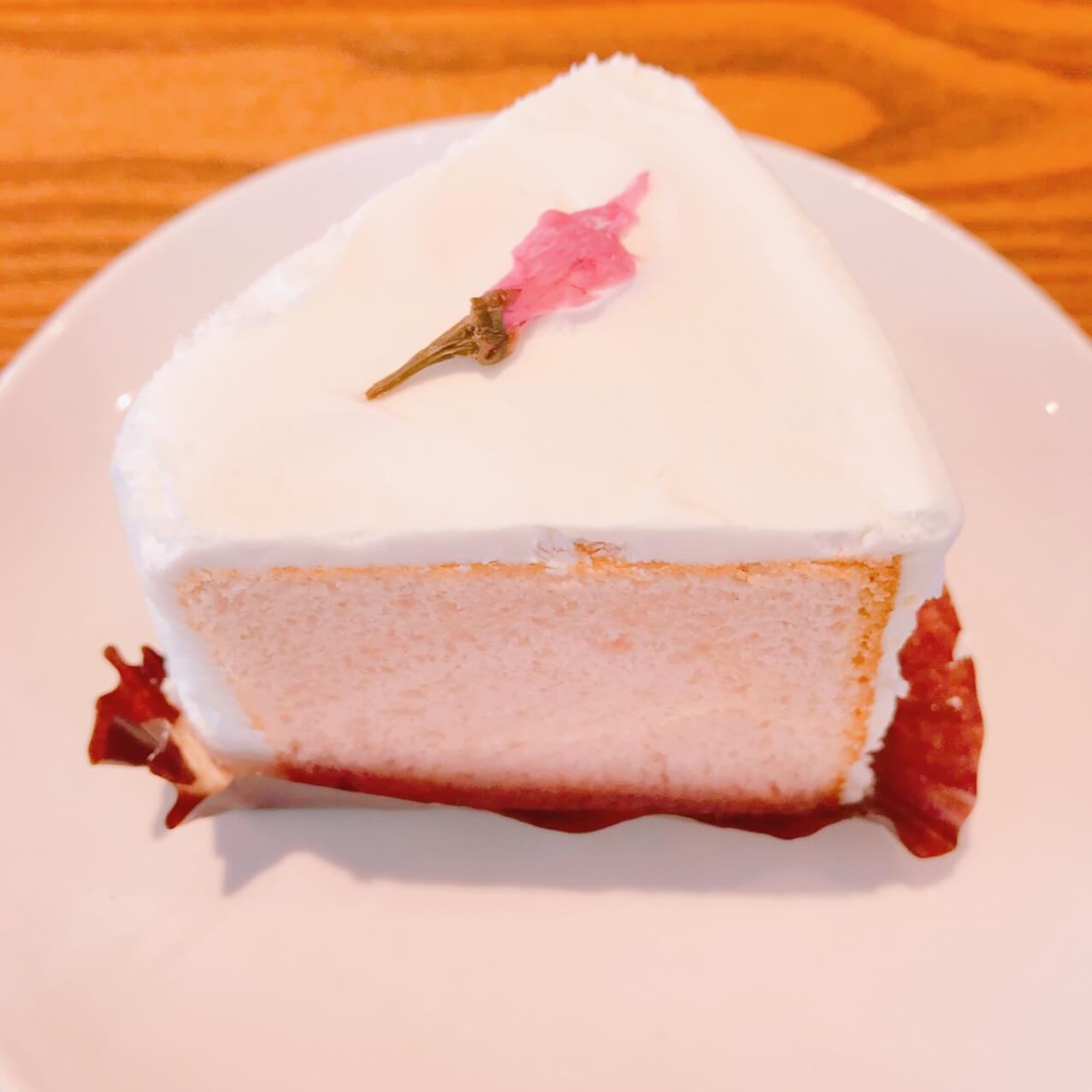 スタバのゆめかわ桜シフォンケーキ♡
