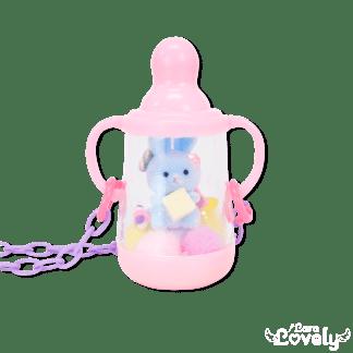 おしゃぶりネックレス ピンク(濃ピンク×パープル)