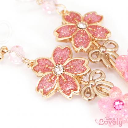 SAKURA key ノンホールピアス(ピンク)