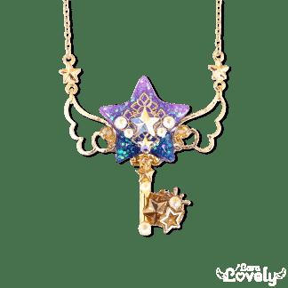 夜空の星の鍵ネックレス