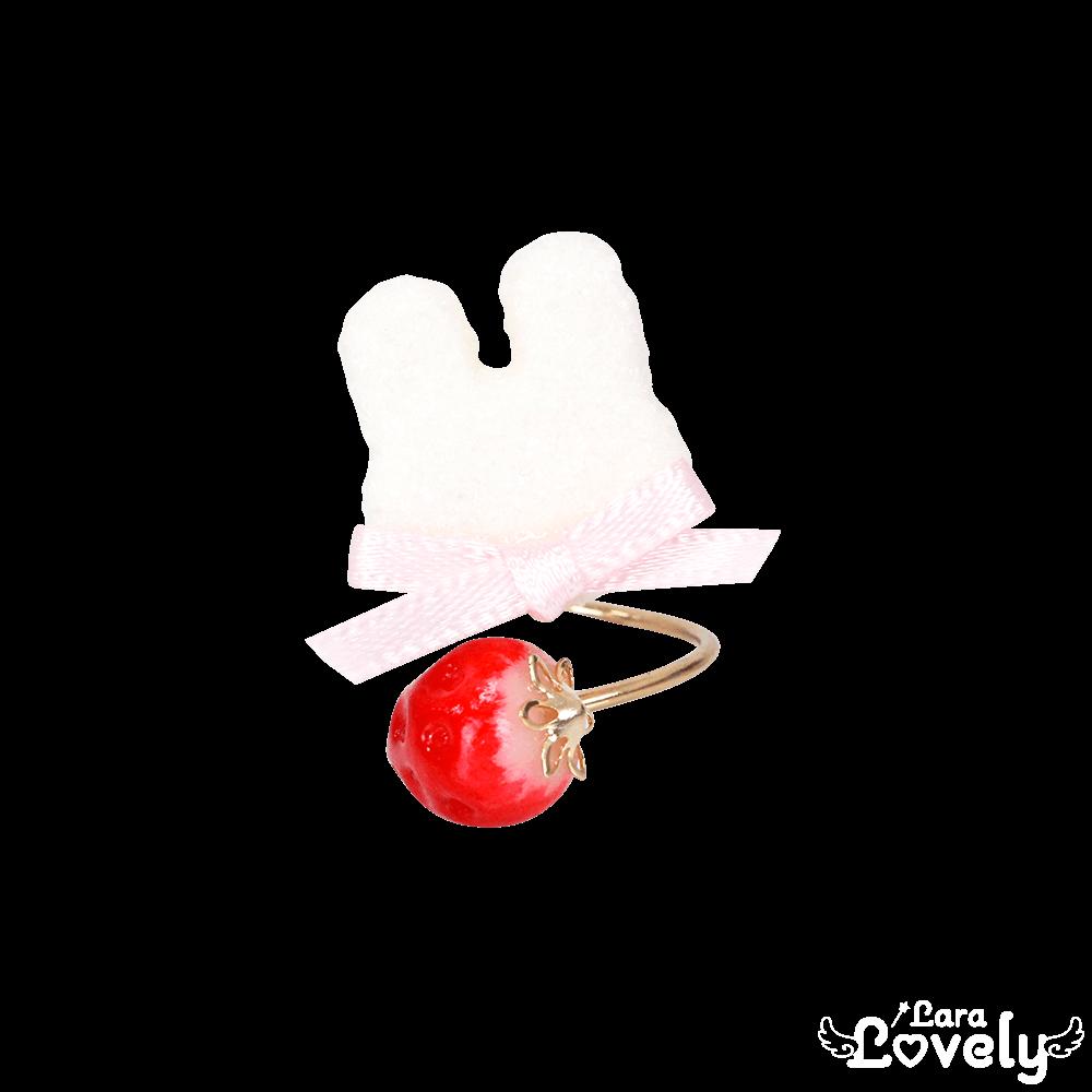 うさいちごフォークリング(ピンク)