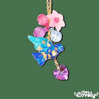 幸せの青い鳥ネックレス
