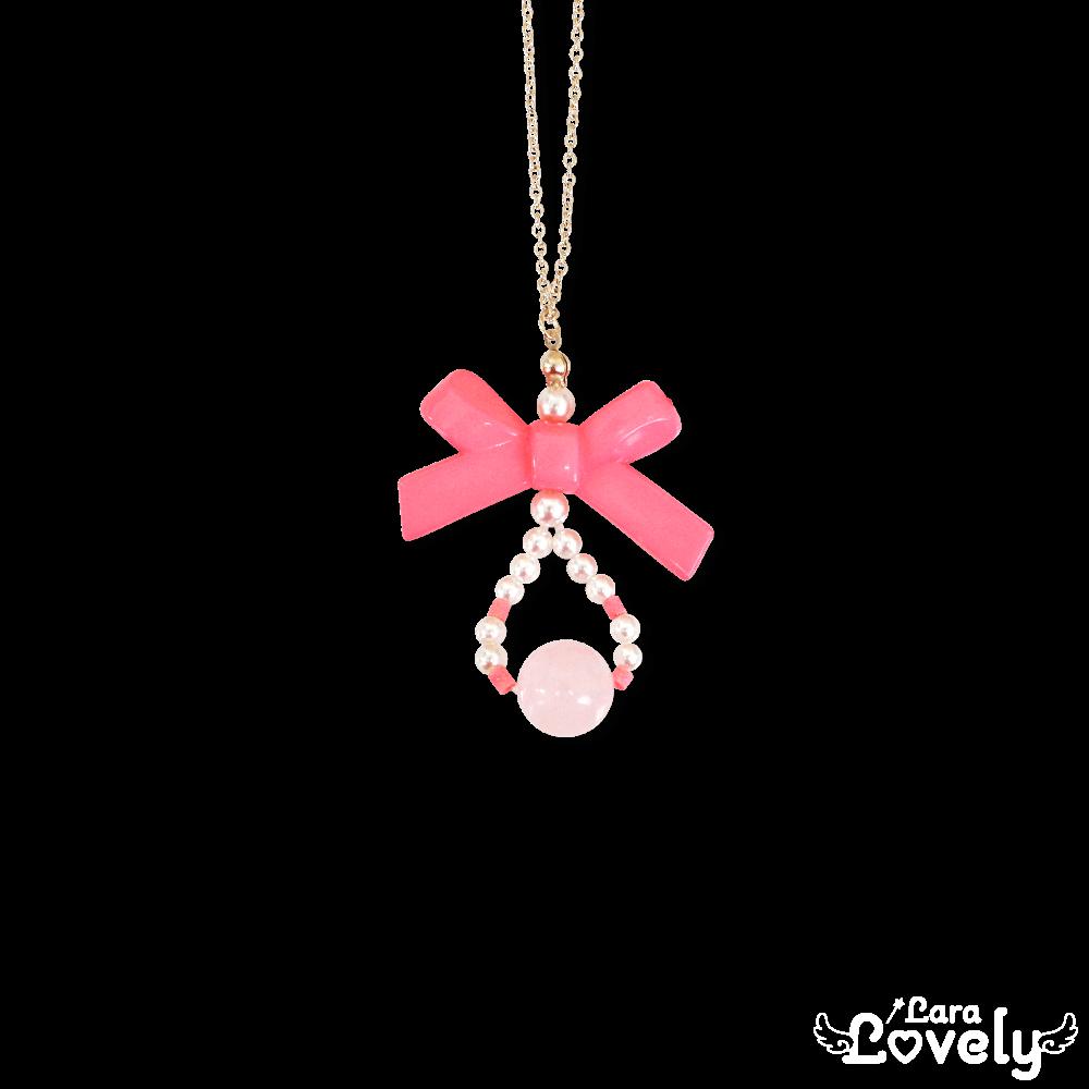 リボンのネックレス(ピンク)