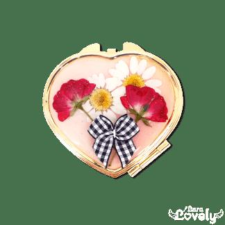 薔薇ギンガムミラー