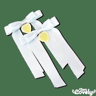 レモンツインテールリボン(水色)