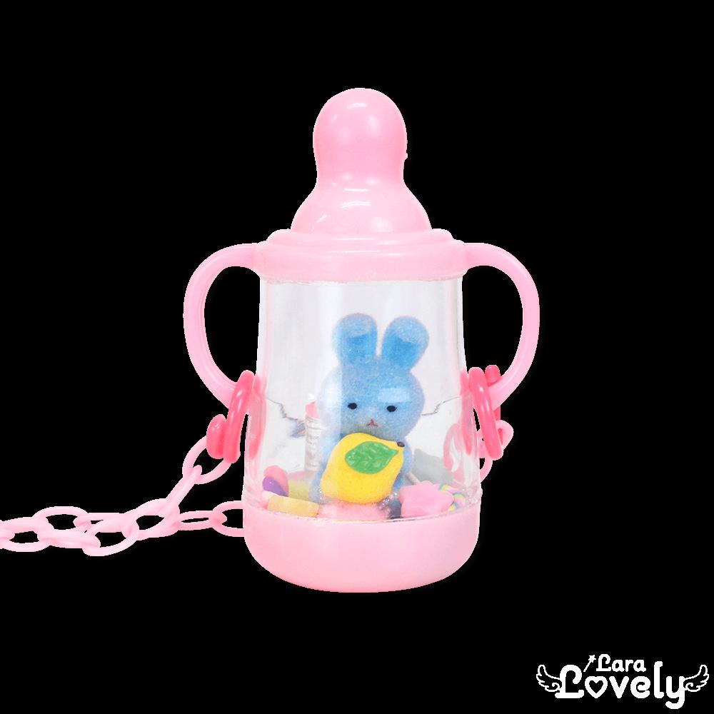 哺乳瓶うさぎネックレス(レモン)