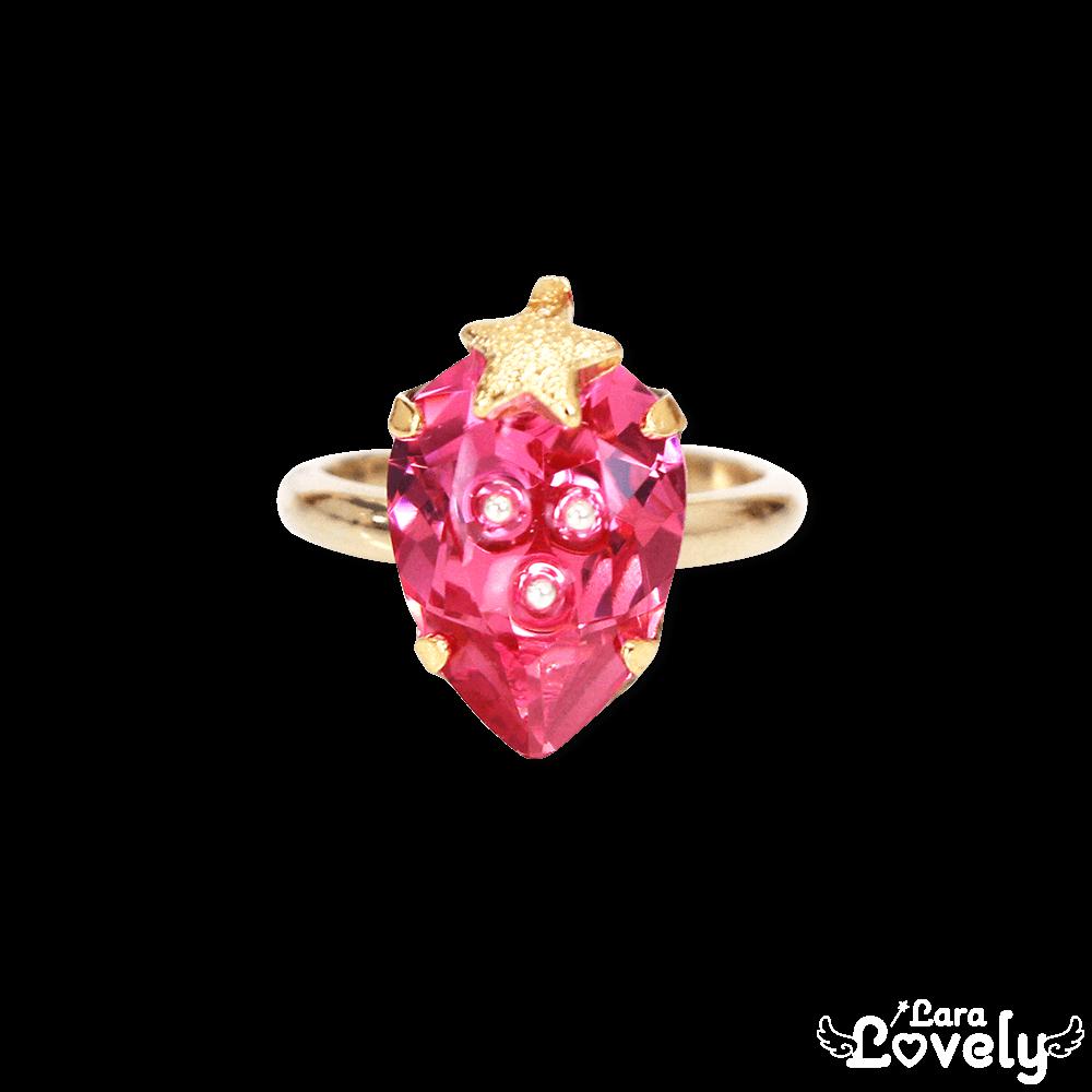 いちごの宝石リング/ピンクベリー