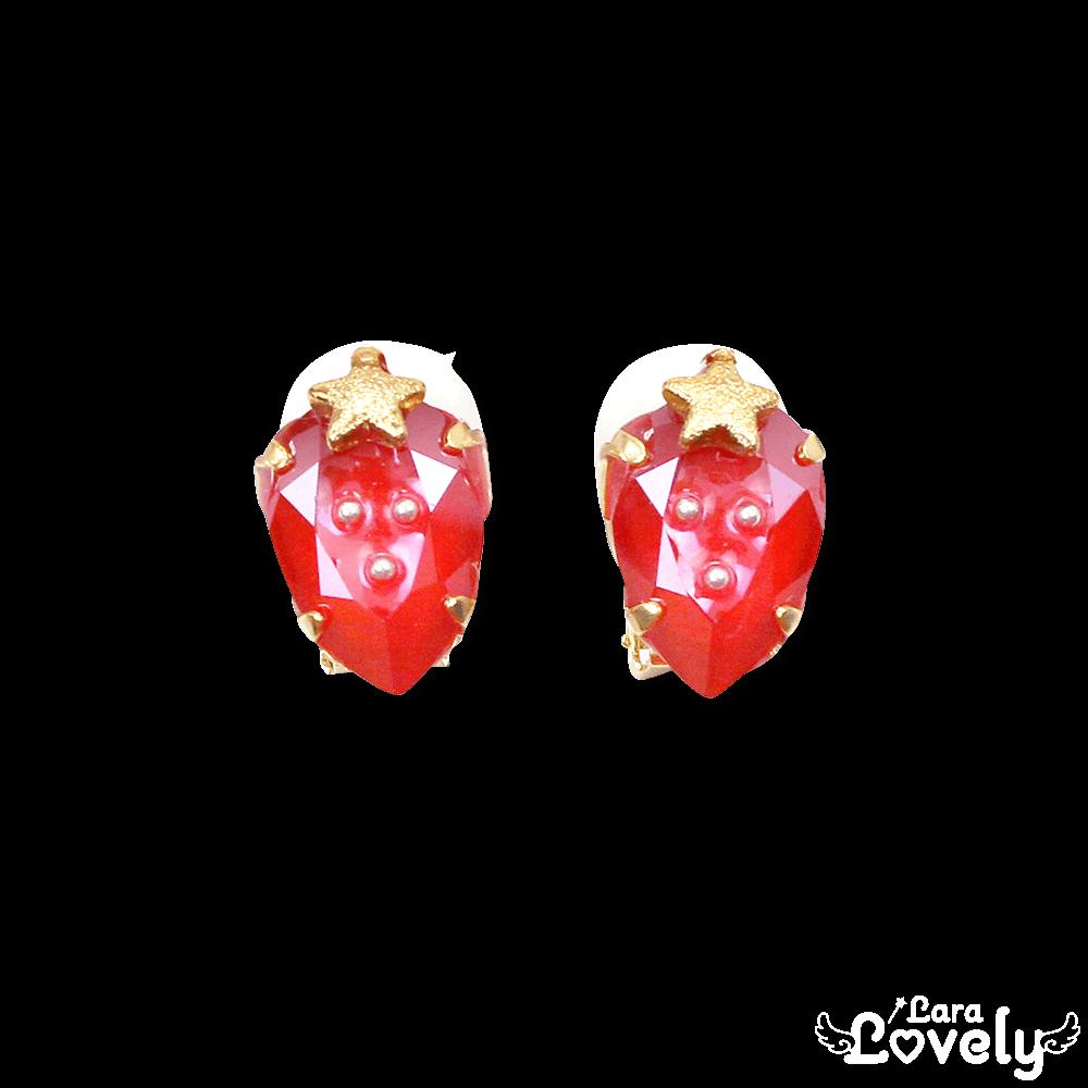 いちごの宝石イヤリング/フレッシュベリー