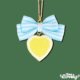 レモンネックレス(ストライプ)