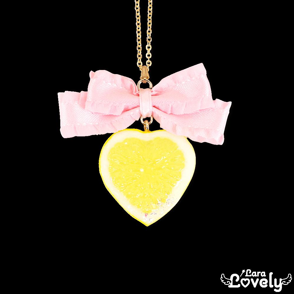 レモンネックレス(ピンク)