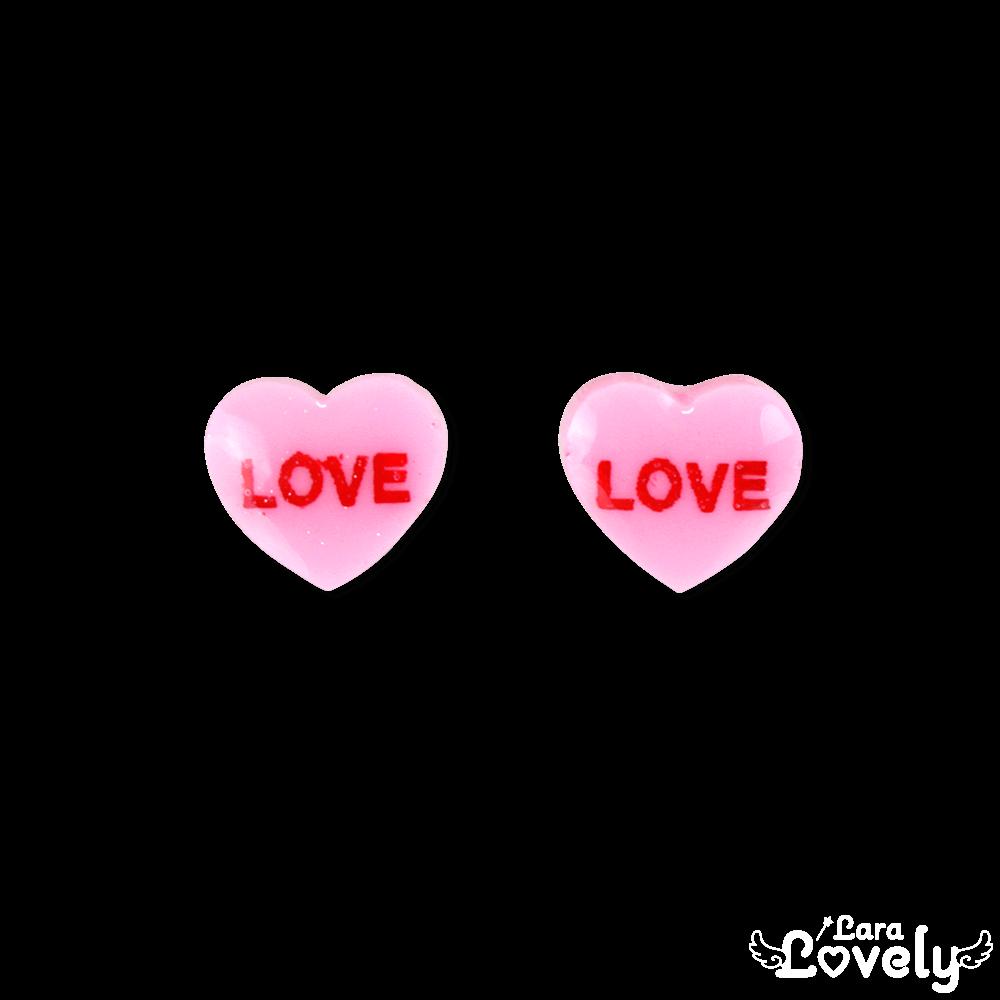 キャンディハーツピアス ピンク LOVE