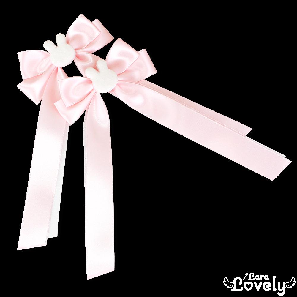 うさちゃんツインテールリボン(ピンク)