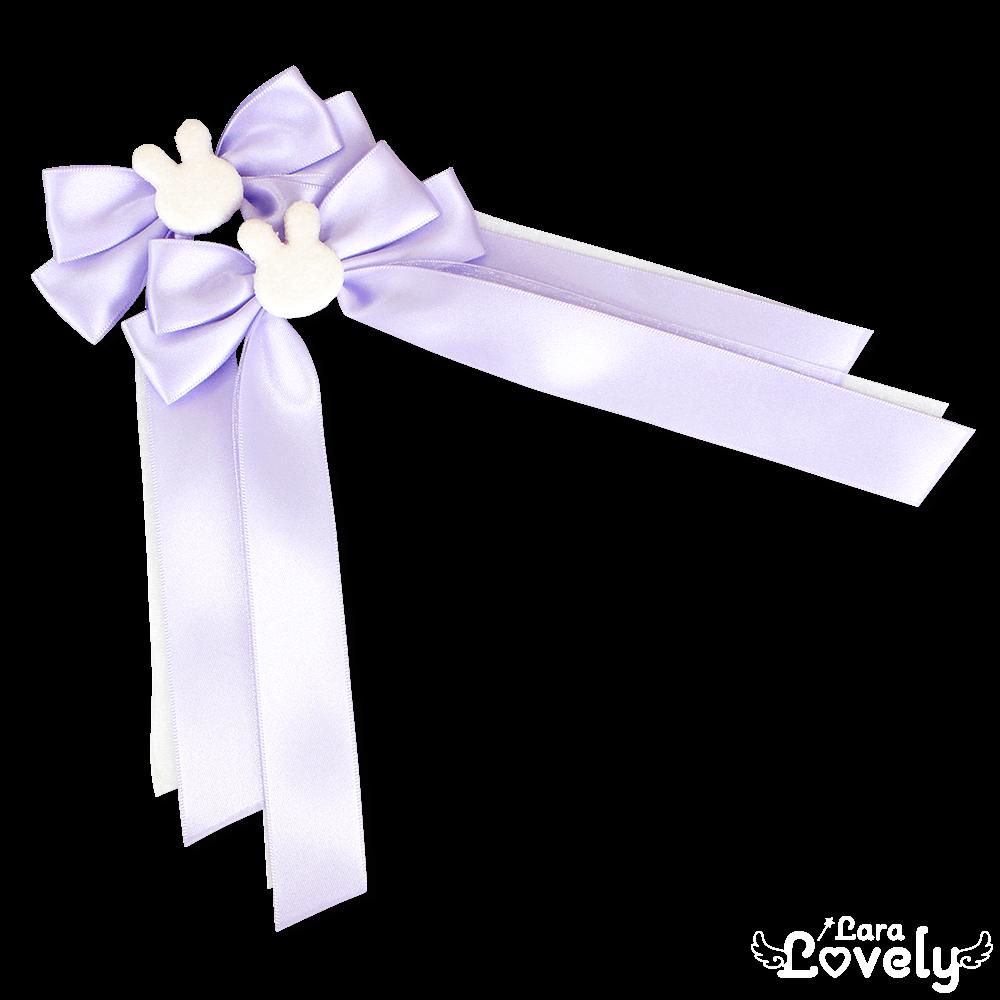 うさちゃんツインテールリボン(紫)
