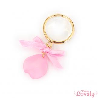 【2020SS】フラワーリボンイヤリング(ピンク)