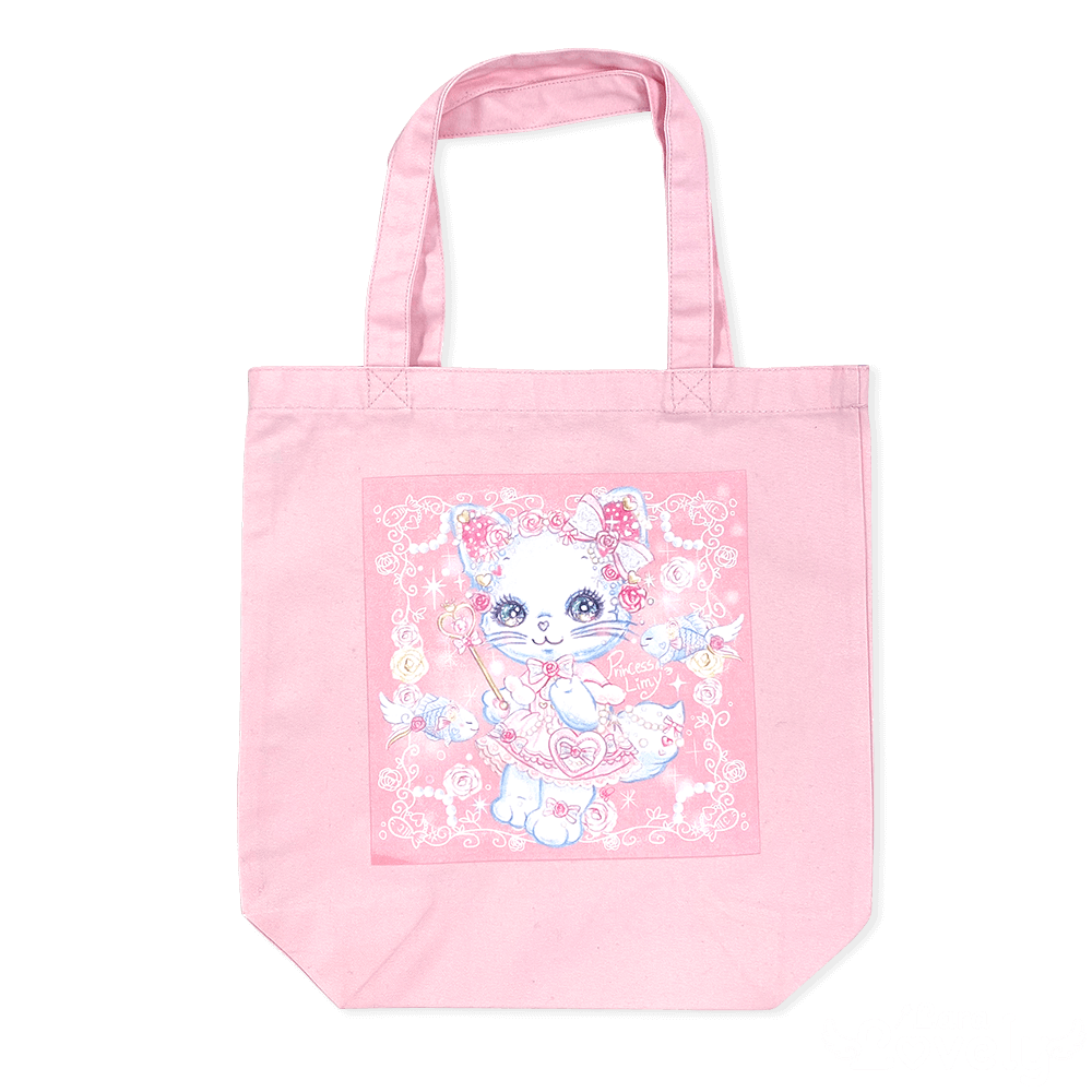 【2020SS】 Lolita白猫リミィちゃんとエンジェルフェアリーフィッシュちゃんのお散歩トートバッグ