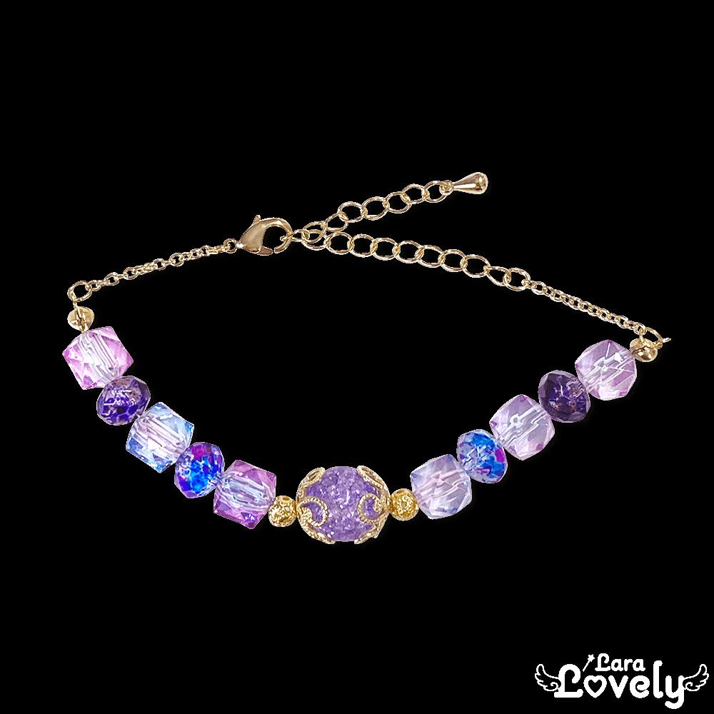 紫水晶の紫陽花ブレスレット