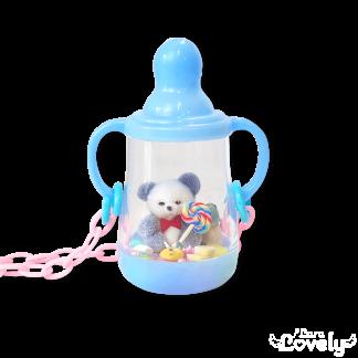 哺乳瓶ネックレス(ピンク&ユニコーン)