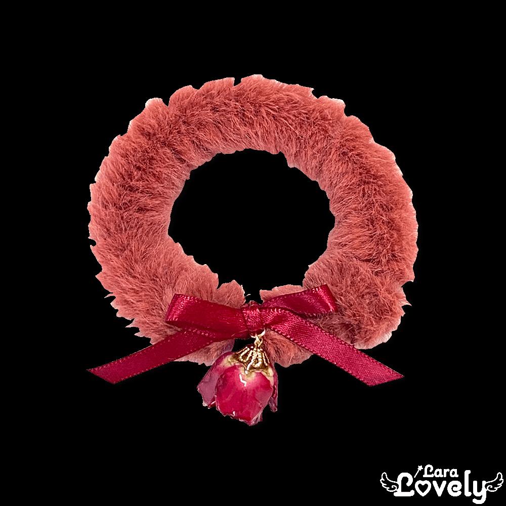 【2020AW】薔薇とファーのブレスレット