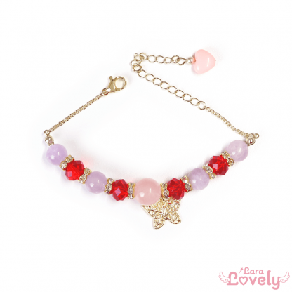 苺のピンクブレスレット